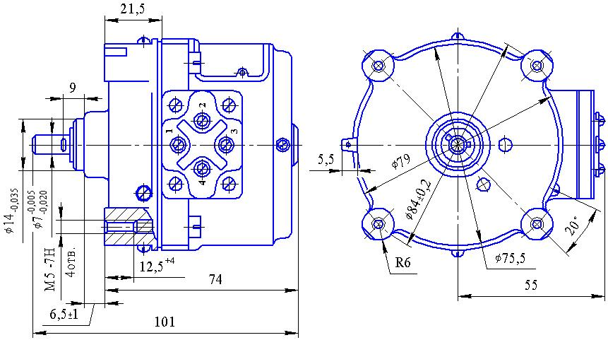Электродвигатель РД-09 8,7 об/мин.